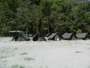Beach Camping in rishikesh
